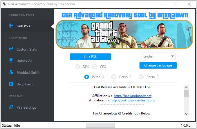 GTA Advanced Recovery Tool(BLES) was thought for everything those who wishes executed a quality lobby for them customers, Fast and reliable.